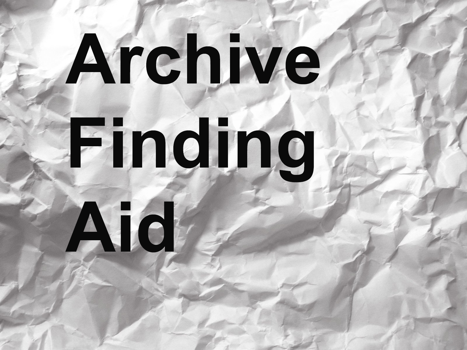 Archives Finding Aids