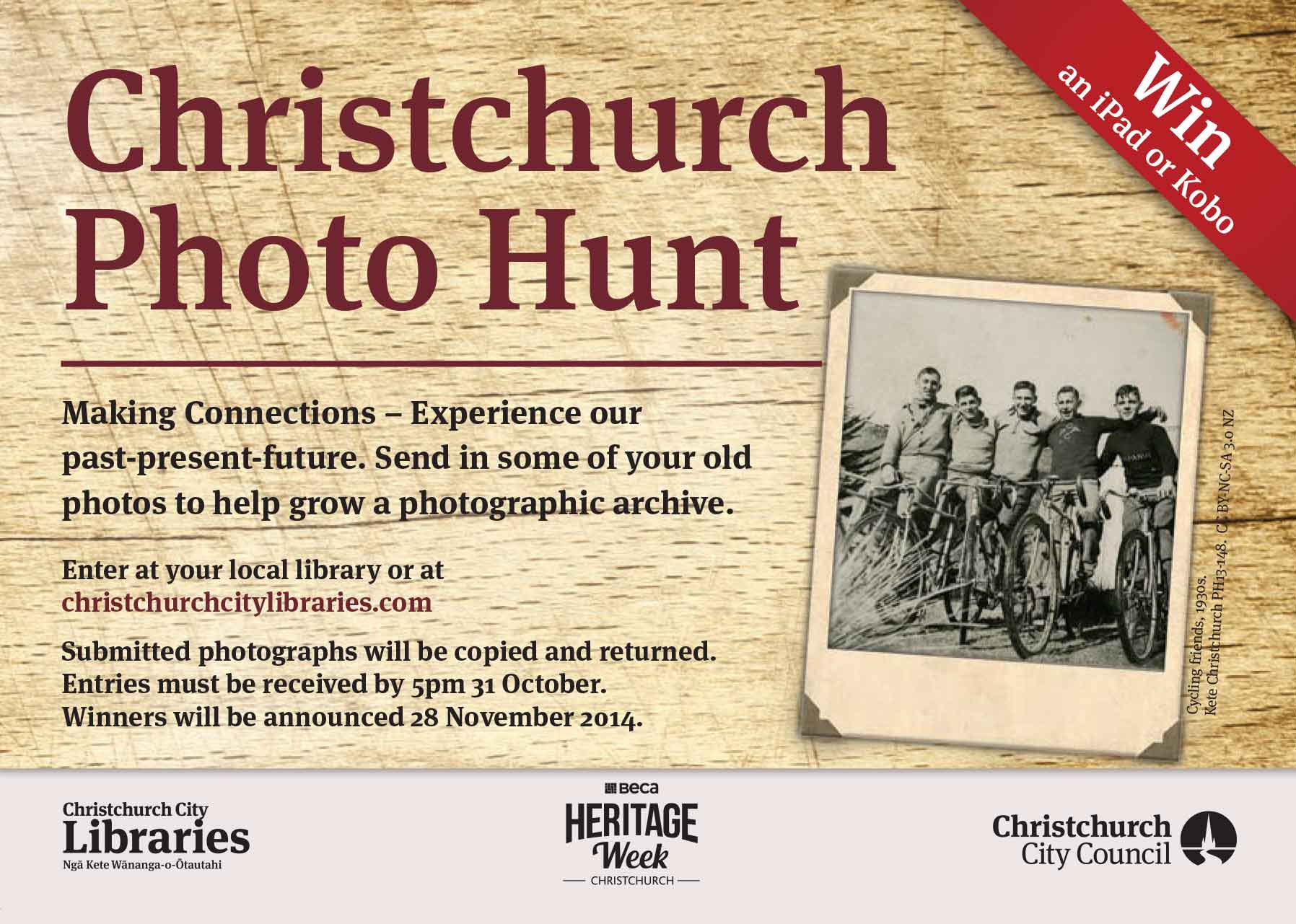 Chrstchurch Photo Hunt 2014 Flyer