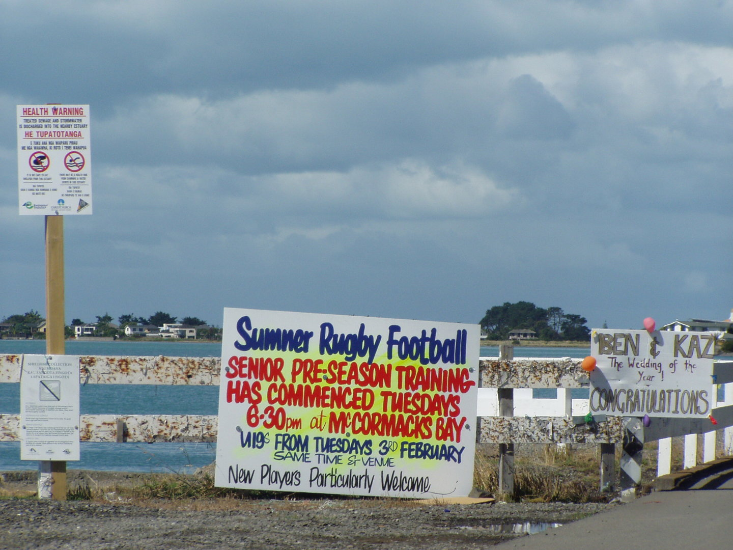 Image of Signs along Main Road, Redcliffs