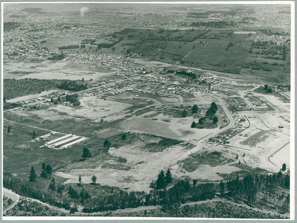 Aerial view of Parklands under development