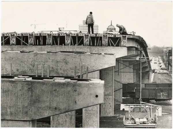 Construction of the Durham Street overbridge