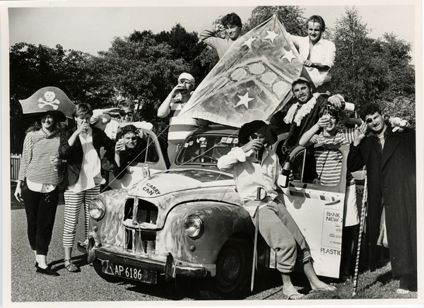 University students with the Sloth Mobile