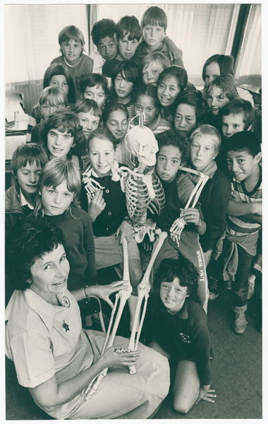 """Humphrey"" the Skeleton at Bromley Primary School"