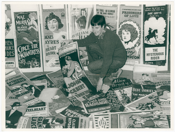 Tony Nunan with a selection of film posters