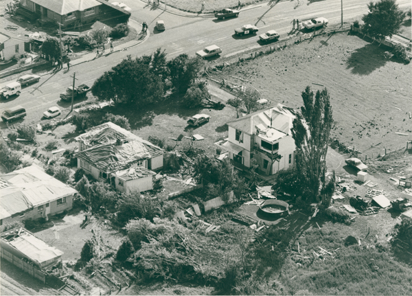 Damage caused by Halswell tornado
