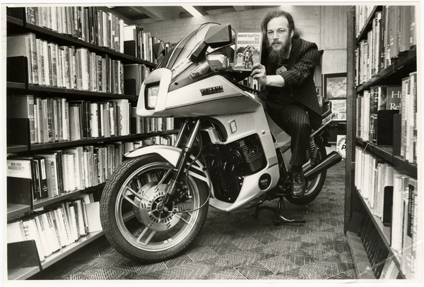 Motorcycle in the Canterbury Public Library