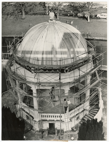 Repairs to Edmond's band rotunda