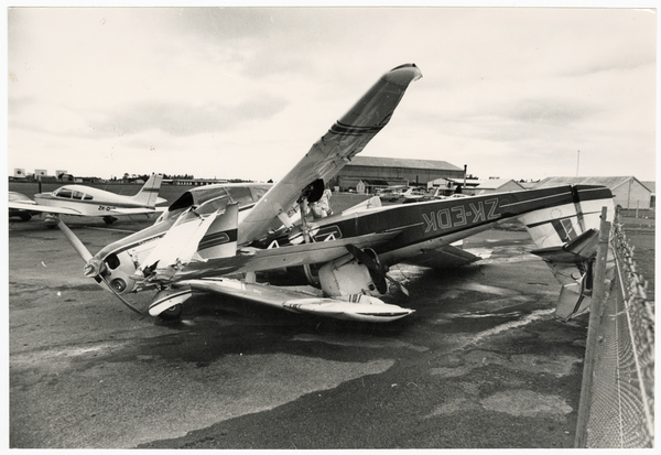 Damaged aircraft