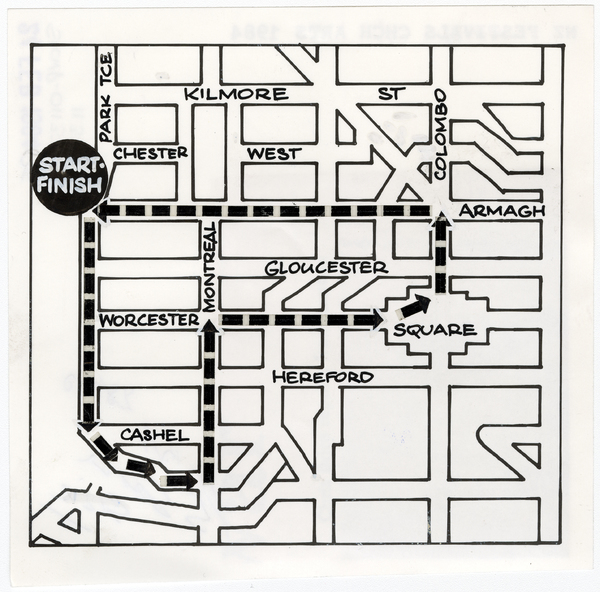Floral Parade route map