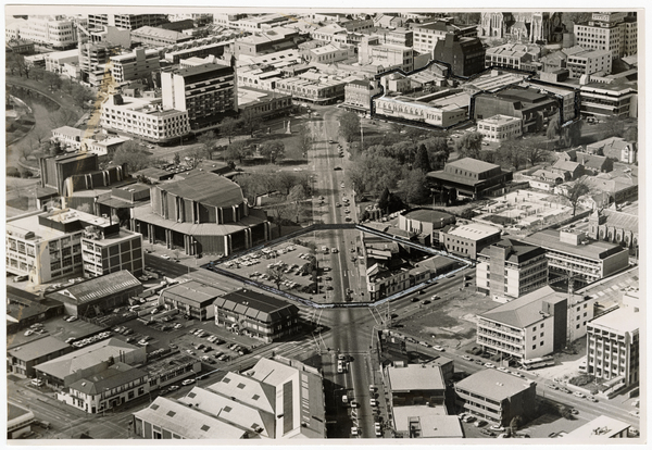 Aerial view of Victoria Street and surrounds