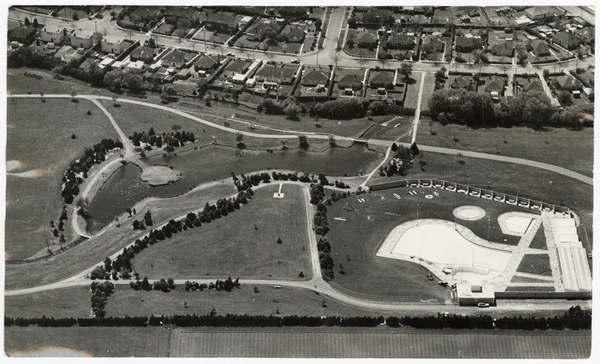 Aerial view of Jellie Park