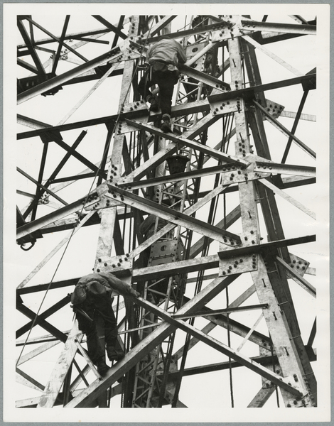 Transmission line tower construction