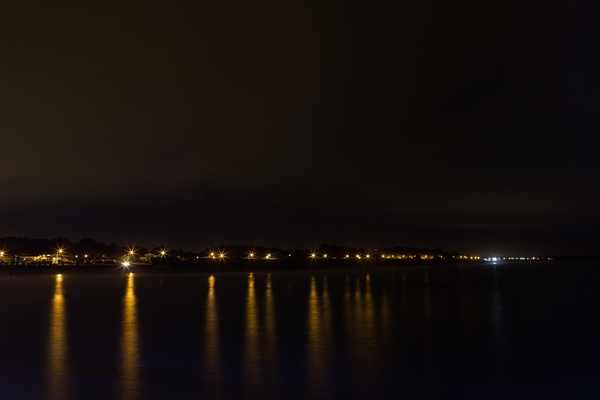 Night view of New Brighton from the pier