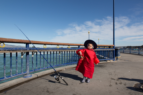 Fishing on New Brighton Pier