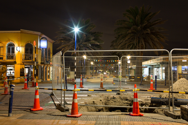 Roadworks on Marine Parade