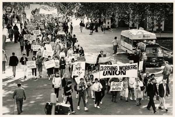 Clothing Workers Union march