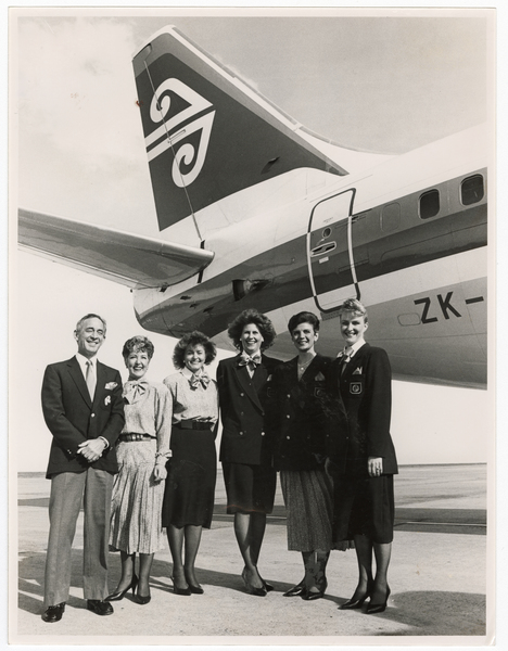 Air New Zealand staff in uniform
