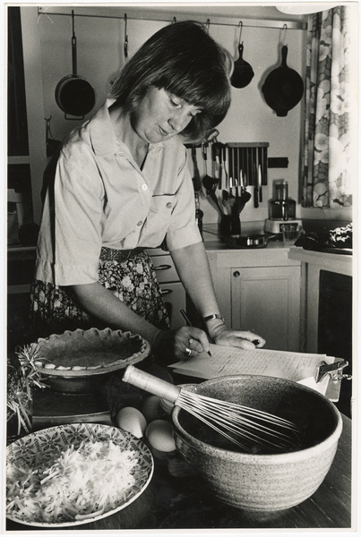 Cookbook author, Mrs Mary Browne in her kitchen