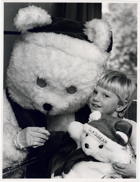 Owen Crump and Santa Bear