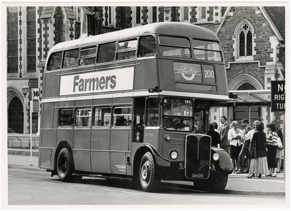 Double decker bus in Cathedral Square