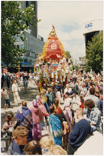 Hare Krishna parade through Cathedral Square