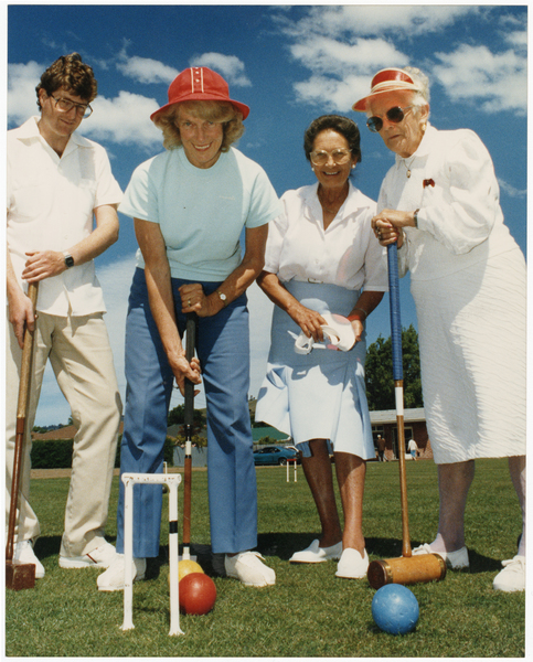 Members of the St Martins Croquet Club