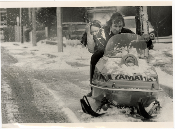 Snow mobile on Waller Terrace