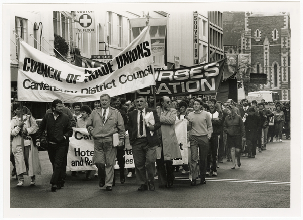 Council of Trade Unions protest