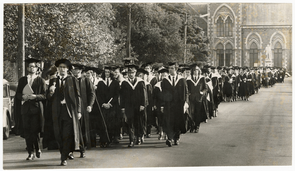 University of Canterbury graduands on Worcester Street.
