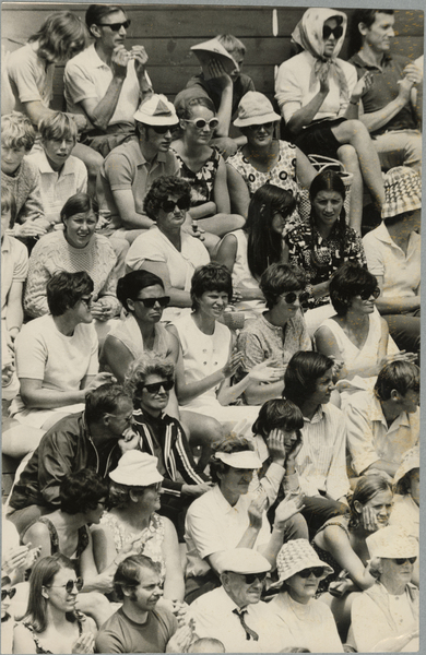 Tennis tournament crowd