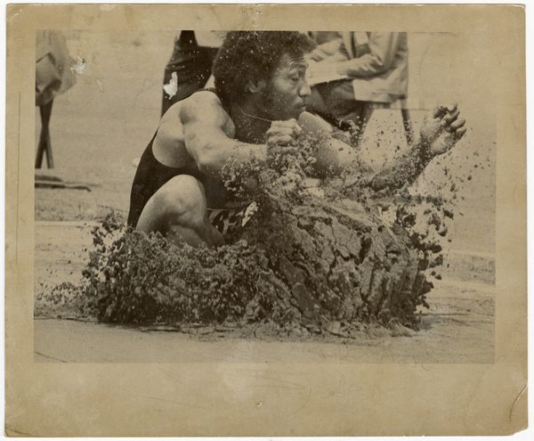 Mene Mene competing at the Christchurch Commonwealth Games