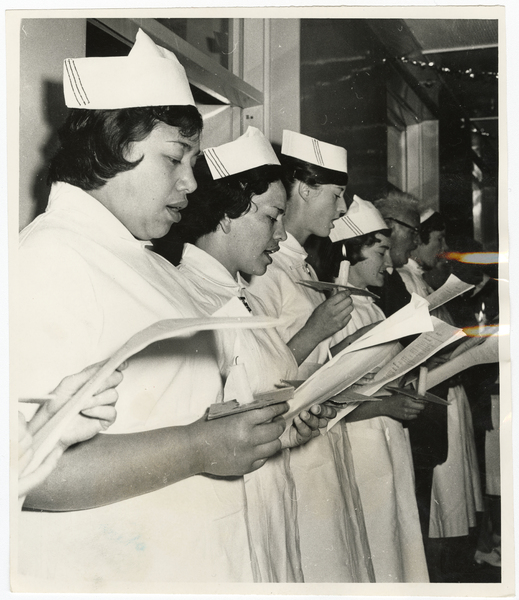 Nurses at St Helens Hospital