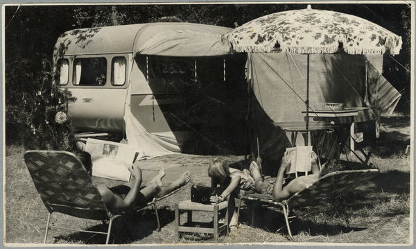 The Yellowlees family camping at Woodend