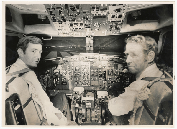 Captains in a flight simulator
