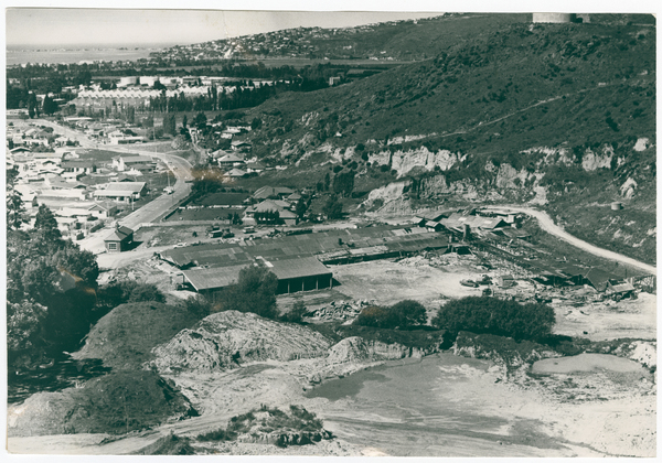 The old brickworks site, Port Hills Road