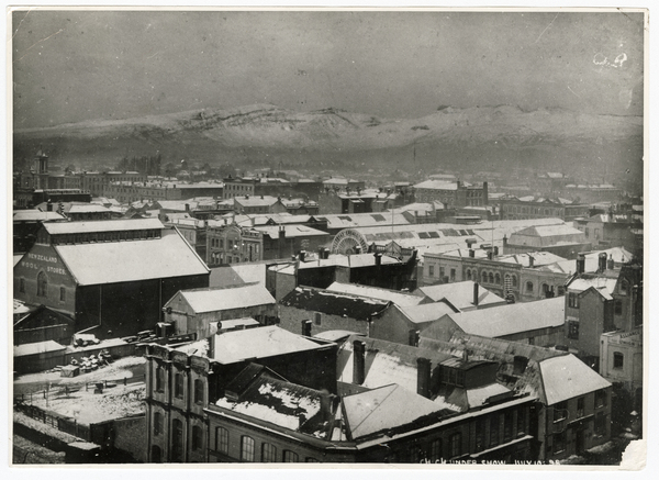 Central Christchurch under snow