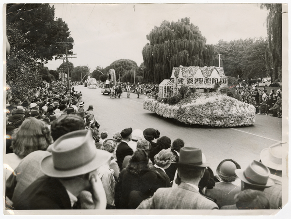 House shaped floral float