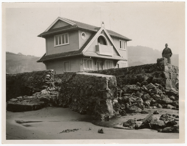 Sumner after the sea broke through in 1953