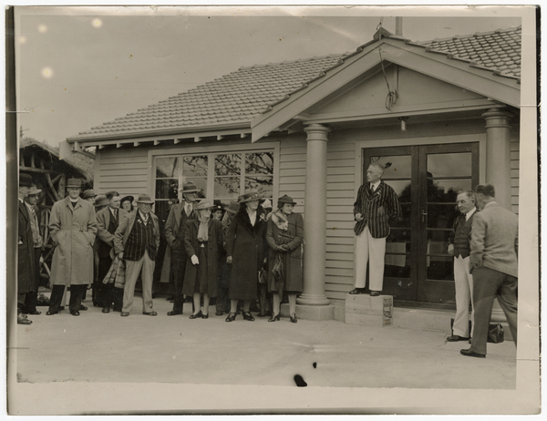 Opening of the Riccarton Racecourse Bowling club