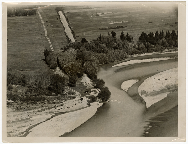 Aerial view of the Waimakariri River