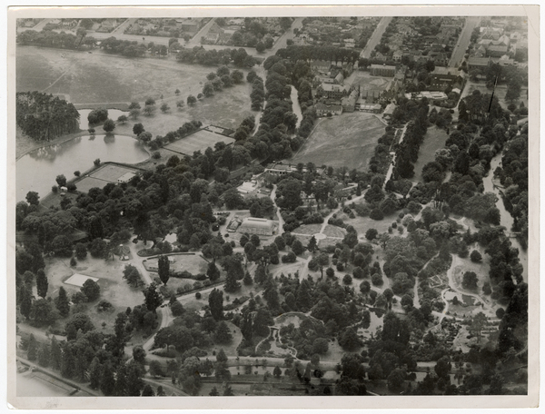 Aerial view of Christchurch Botanic Gardens