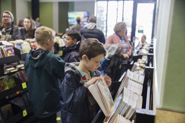 Member of the public at Ōrauwhata: Bishopdale Library