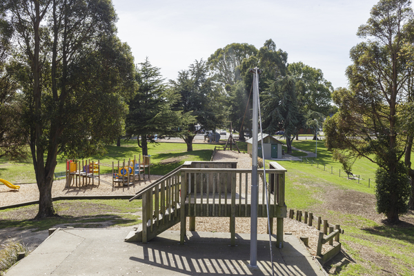 Bishopdale Park view from the top of the slide