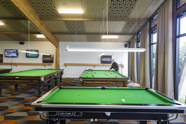 Billiards area at the Papanui Club