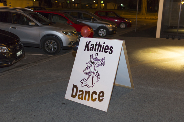 Kathie's Dance group sign at Ōrauwhata: Bishopdale Library