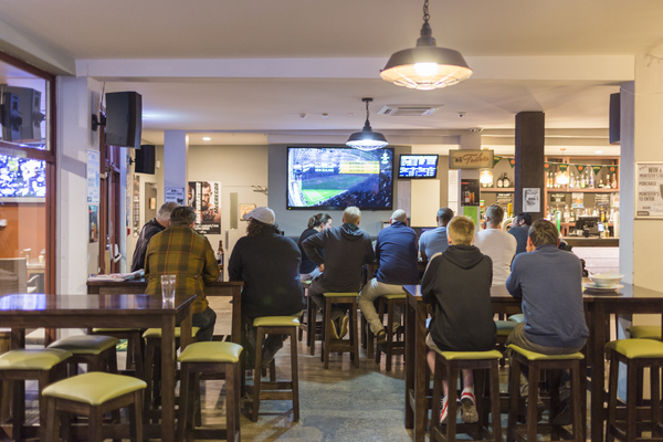 All Blacks vs Australia game, Bishop Brothers public house