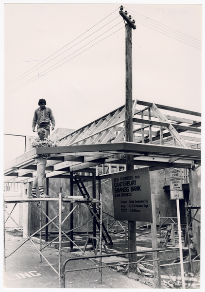 Construction of the Canterbury Savings Bank, Waimairi Road