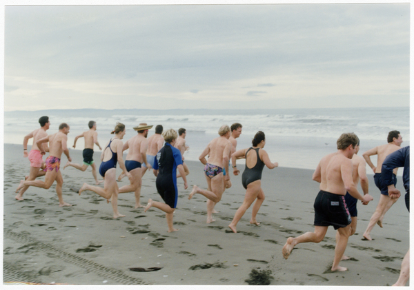 Mid-winter swim at New Brighton