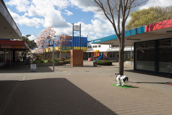 Bishopdale Village Mall on a sunny day