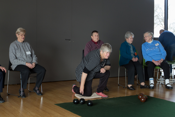 Bowls game, Community centre, Ōrauwhata: Bishopdale Library